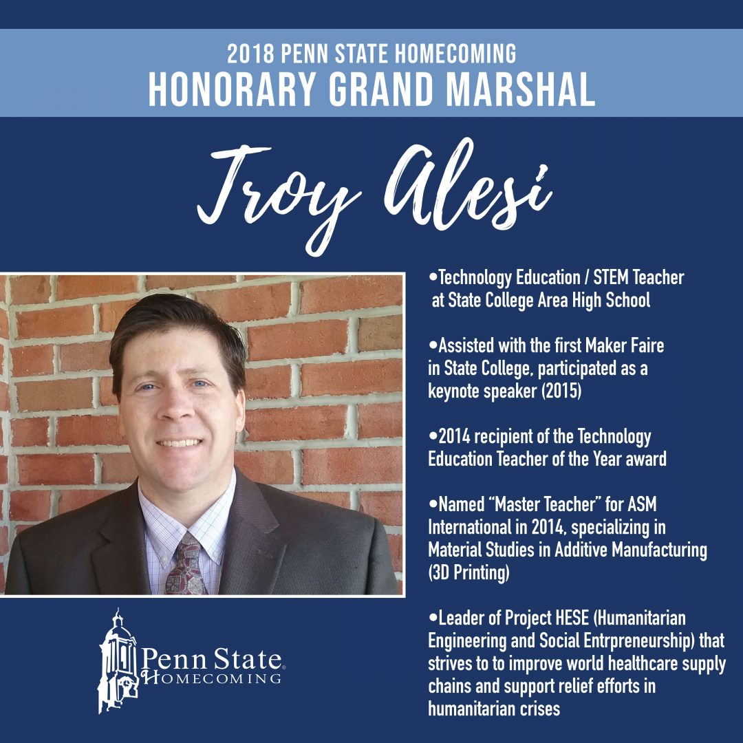 Honorary Grand Marshall Troy Alesi | Penn State Homecoming